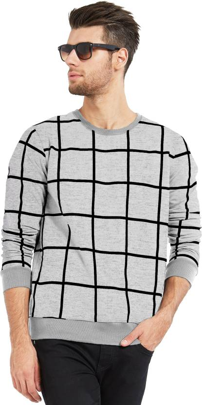 26166190 Maniac Checkered Men's Round Neck Grey, Black T-Shirt - Buy Grey Maniac  Checkered Men's Round Neck Grey, Black T-Shirt Online at Best Prices in  India ...