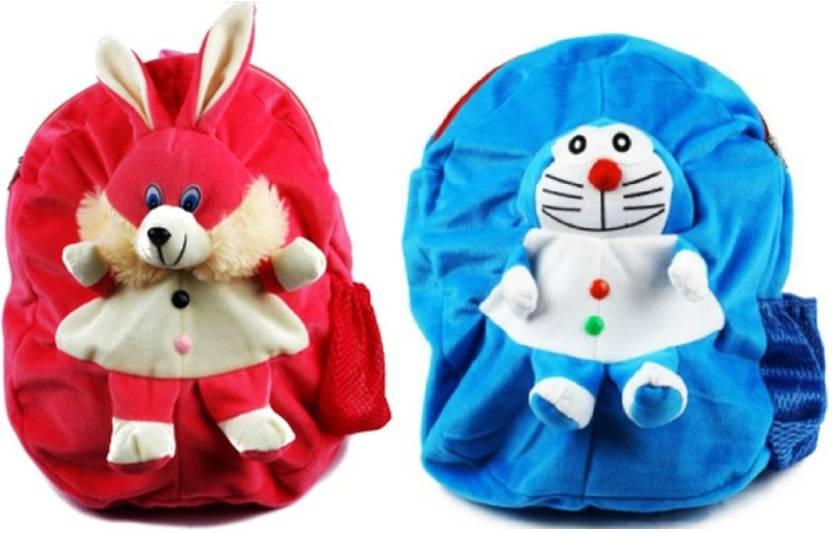 ... Nursery  super popular e169a e63ad DZert School Bag For Kids Rabbit  Doramon Soft Plush Backpack For Small ... f52ea3e4bcc86