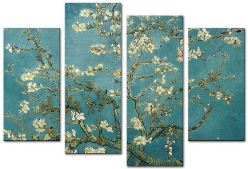 Paper Plane Design Vincent Van Gogh's Painting Branches Of