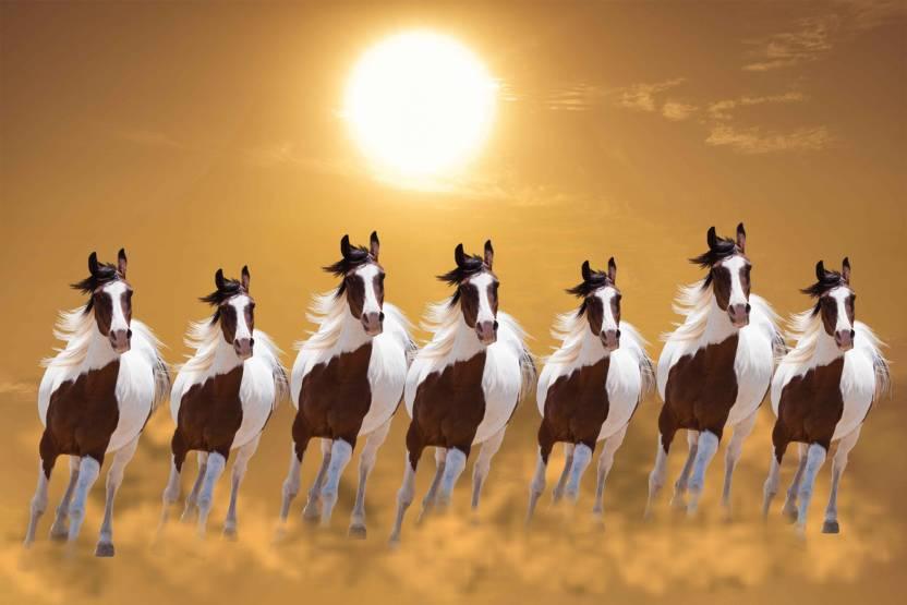 Exclusive Azohp3248 Seven Running Horses Vastu 7 Horses Seven Horses