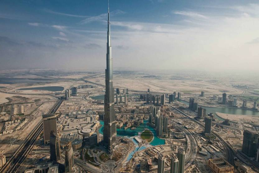 Exclusive Azohp1620 Burj Khalifa Dubai City View Full Hd