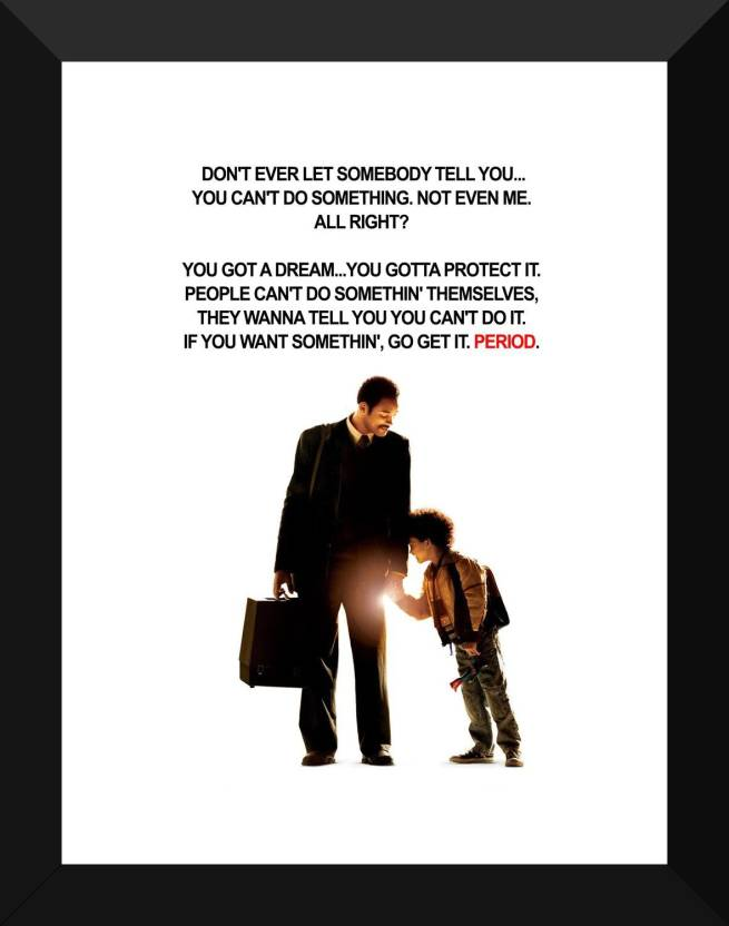 Hollywood Movie Poster The Pursuit Of Happyness Quote Hollywood