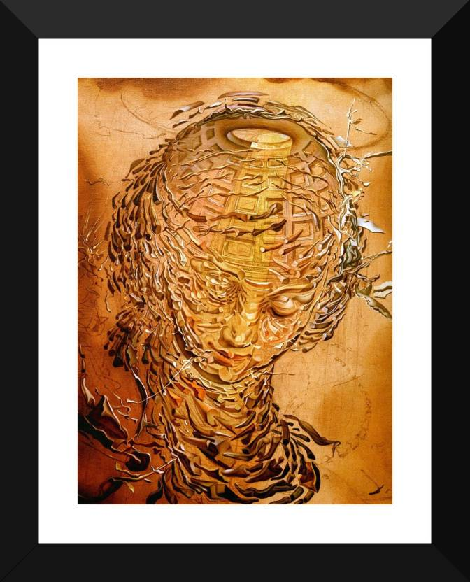 raphaelesque head exploding salvador dalis paintings collection premium quality framed poster for