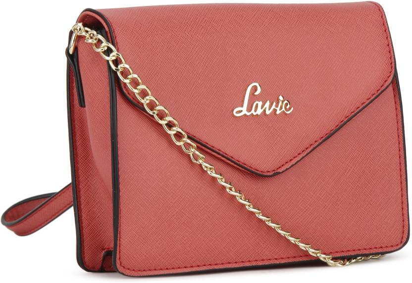 83be9d04c Lavie - Anushka collection Girls Evening Party Pink PU Sling Bag CORAL -  Price in India