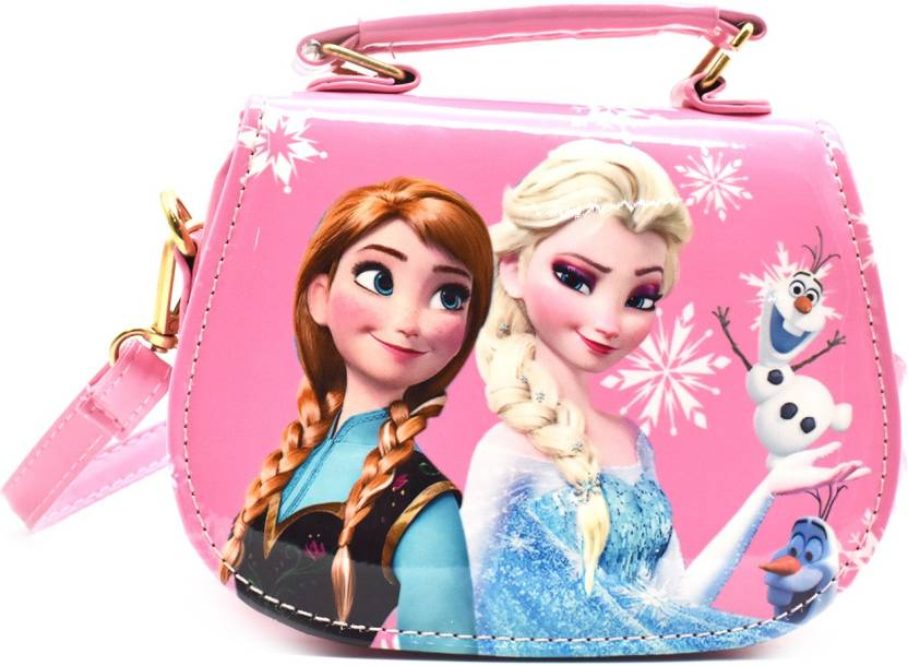 de37ba983e SHOPNJAZZ Frozen Handbags Cute Sling Bag Purse For Kids Girls Gift 2-5Y -  Light Pink Shoulder Bag (Pink