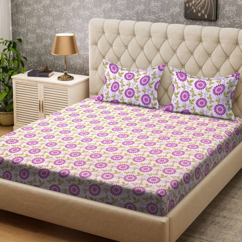 55ebb0bcc Bombay Dyeing 104 TC Cotton Double Floral Bedsheet - Buy Bombay ...