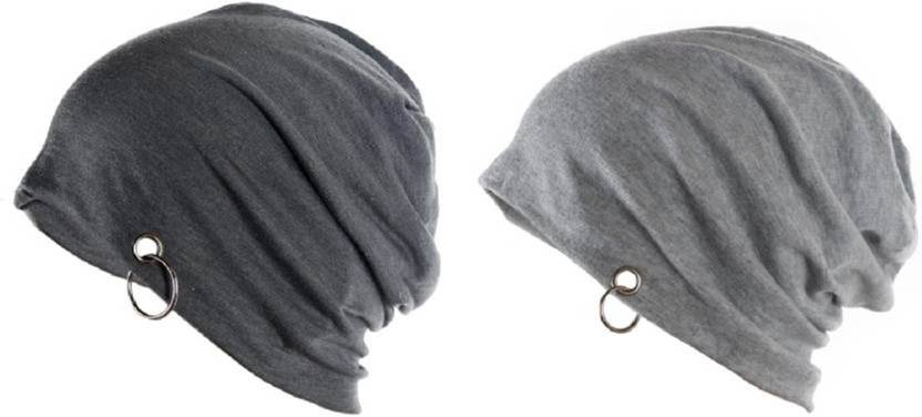 6637b05a347 HOZIE Cool Look Grey And Dark Grey Ring Beanie Cap - Buy HOZIE Cool ...