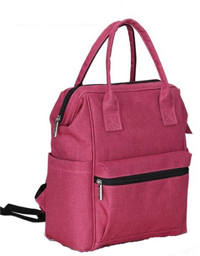 02f1791a70210 Baybee Wide Open Designer Baby Diaper Backpack / Multi-Function Waterproof  Tote Bag,Travel Bag Nursery Diaper Bag (Pink)