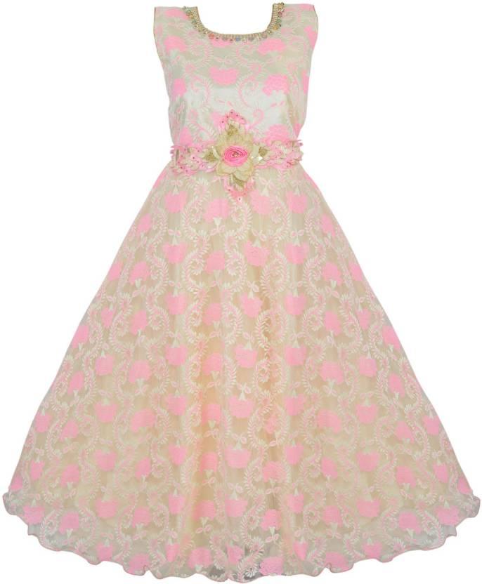 9f96afb97b2a2 Wishkaro Girls Maxi/Full Length Party Dress Price in India - Buy ...