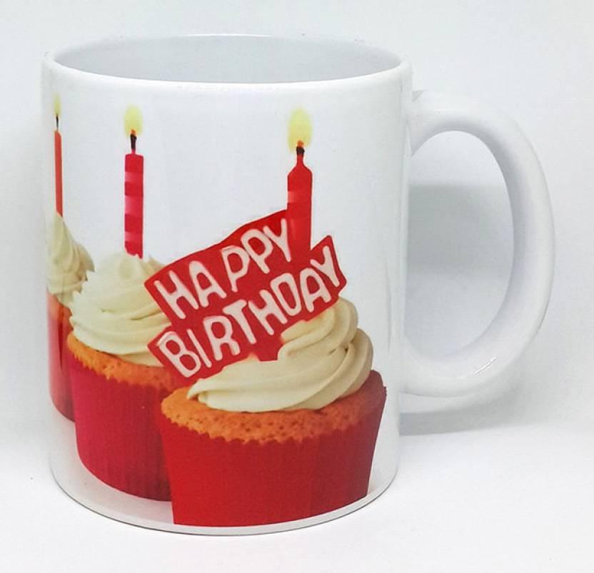 PRINTSWAYS Happy Birthday Printed Ceramic Coffee For Sister Girlfriend Boyfriend Lover Wife Husband Best Friend Gifts Mug 350