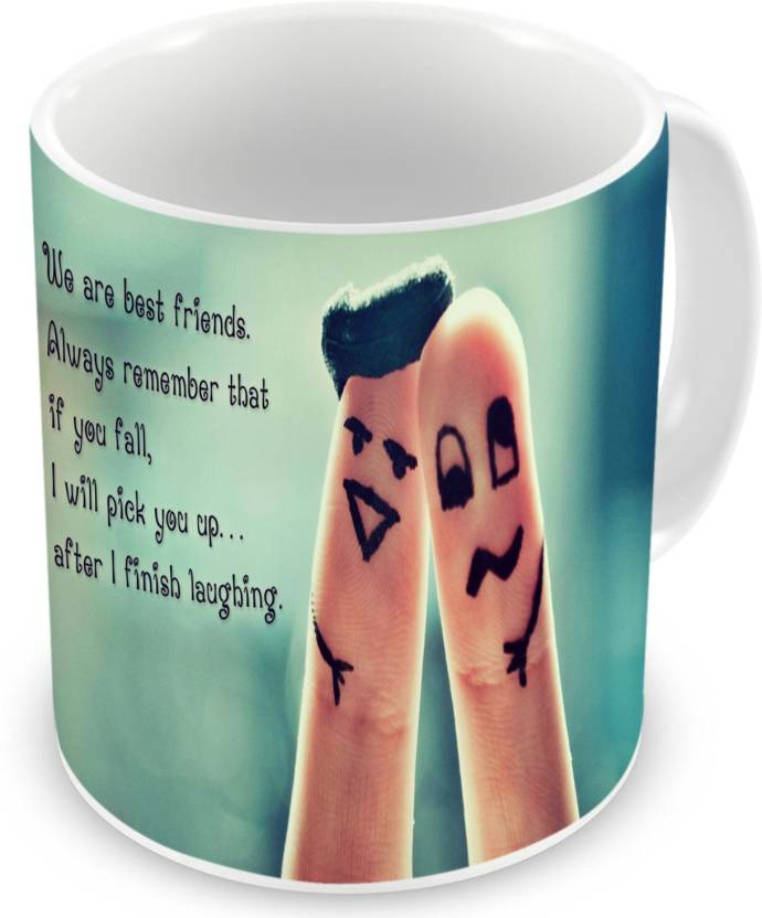 Factorywala We Are The Best Friends Quote Finger Friends Printed