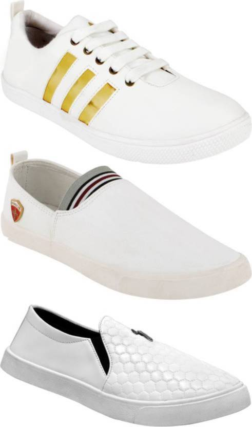 a29cd152b6f Clymb Combo Pack Of 3 Casual White Sneakers For Men - Buy Clymb ...