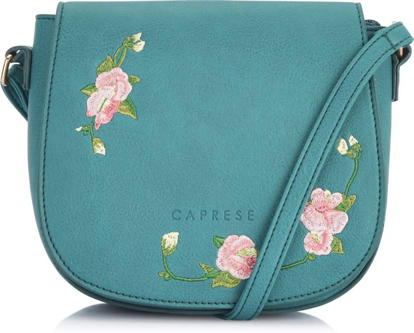 e90d0fd453b Caprese Women Casual Blue Leatherette Sling Bag Blue - Price in India
