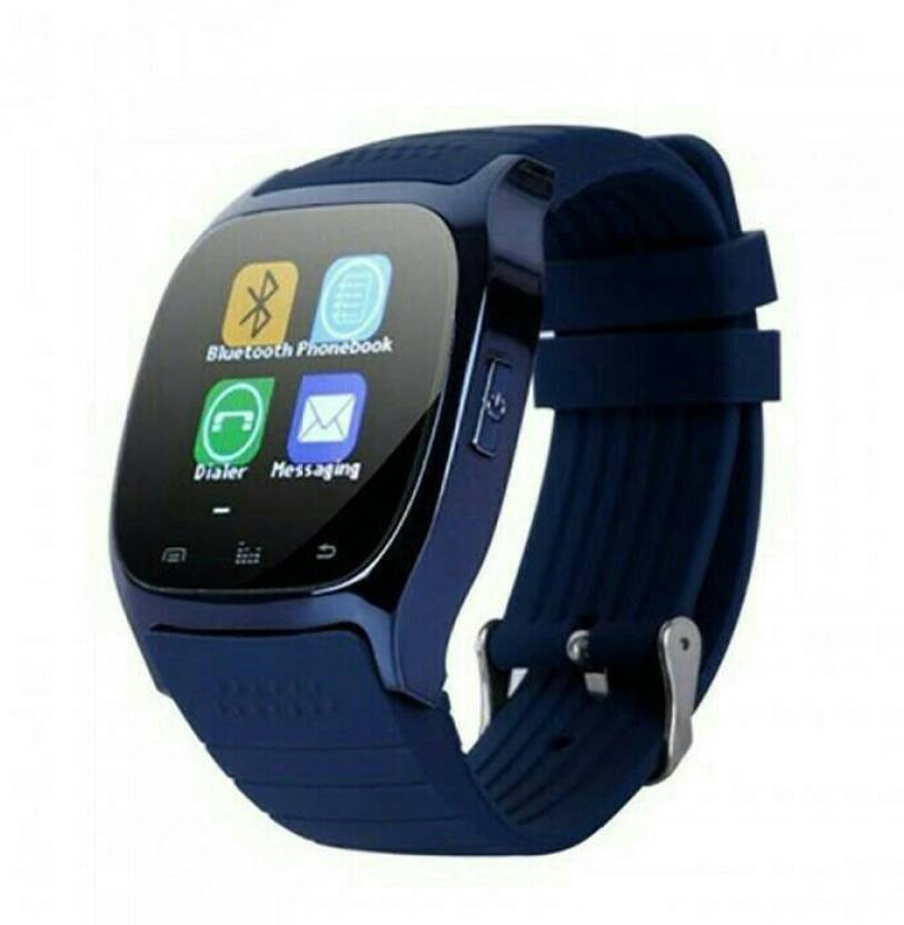 IBS M26 Bluetooth Smart Watch Phone with Camera with Apps like Facebook and  WhatsApp For Android/IOS BLUE Smartwatch