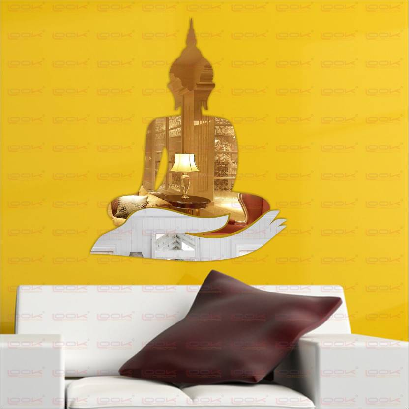 look decor extra large buddha golden hand silver code7 acrylic