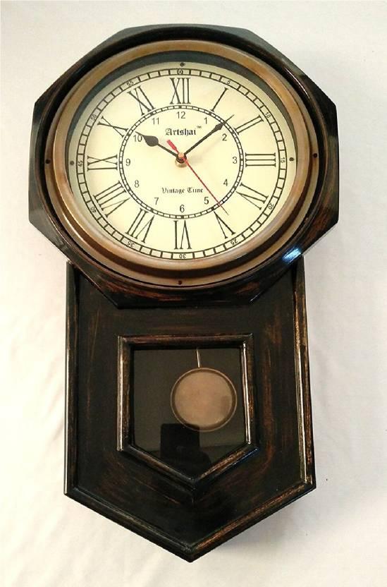 Artshai Analog 46 Cm X 10 Cm Wall Clock Price In India Buy Artshai