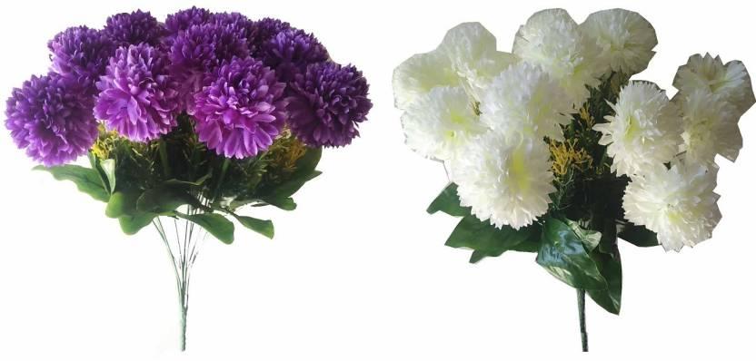 Kaykon 2 carnation flower bunch white purple carnations artificial kaykon 2 carnation flower bunch white purple carnations artificial flower mightylinksfo