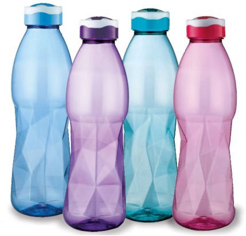 Ratan Galaxy Pet Bottles, Hygienic & Break Proof 1000 ml Bottle (Pack of 4, Multicolor)
