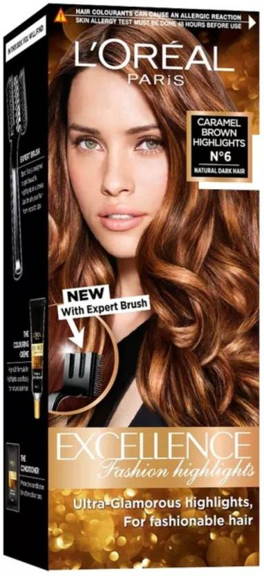 Loreal Paris Caramel Brown Highlights No 6 Hair Color Price In