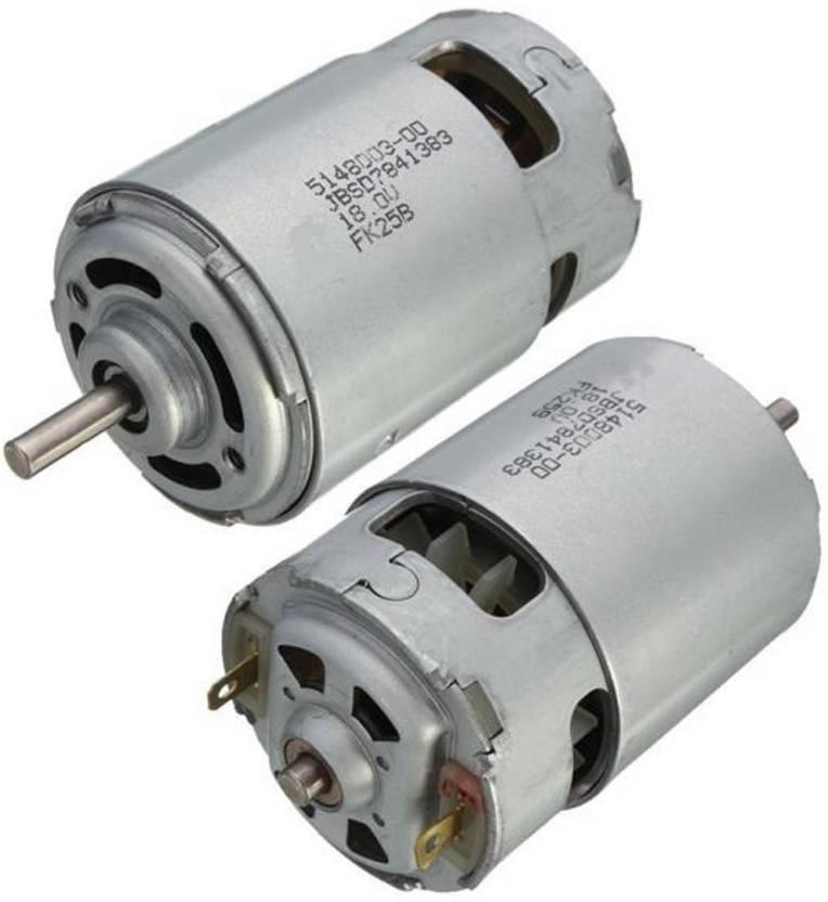 BOOSTY 12V Dc Motor Pack of 2 (Multicolor) 4