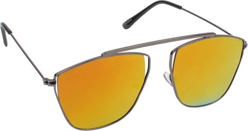 845758dd440 Buy Hob Epic Ink Round Sunglasses Golden For Men   Women Online ...