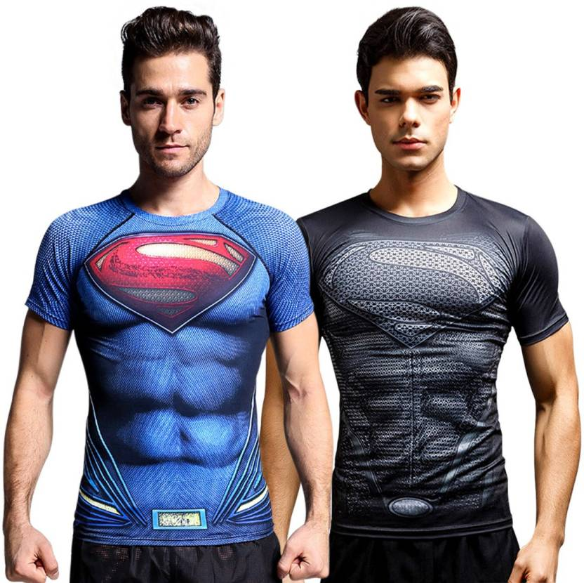 d9a5f4e9 Treemoda Superhero Men's Round Neck Multicolor T-Shirt (Pack of 2)