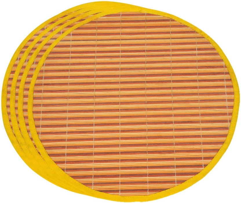 Bamboo Amber Placemats and Coasters set of 4