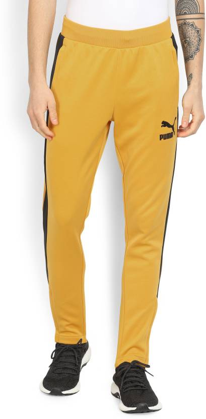 45ff0242c6ab Puma Colorblock Men Yellow Track Pants - Buy Mineral Yellow-black Puma  Colorblock Men Yellow Track Pants Online at Best Prices in India