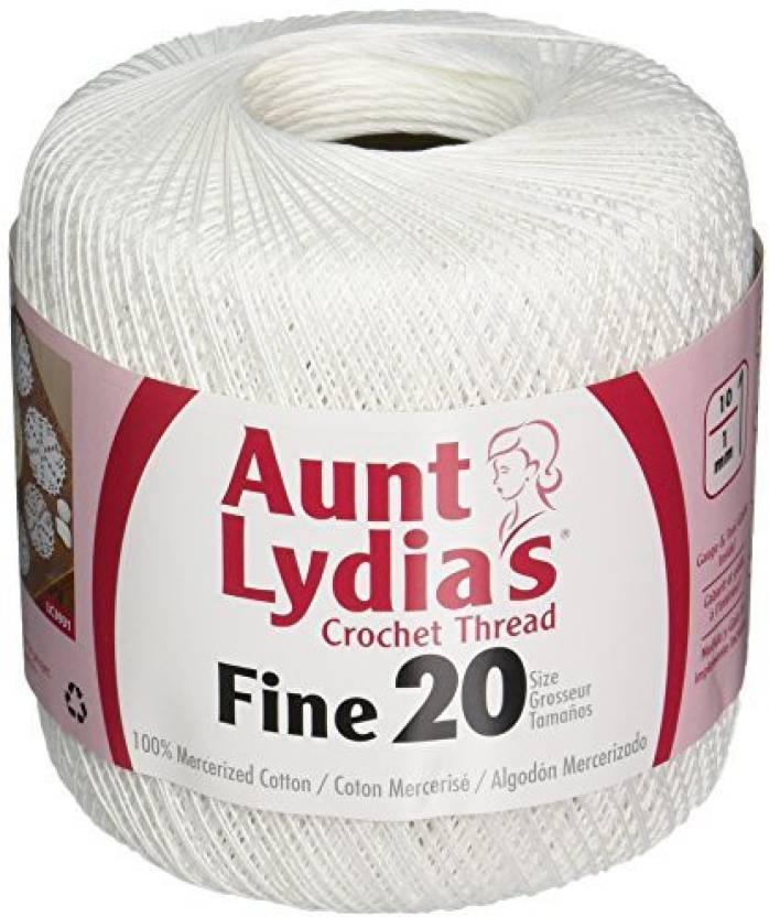 Coats Crochet Aunt L Yard Ias Fine Crochet Thread Size 20 White