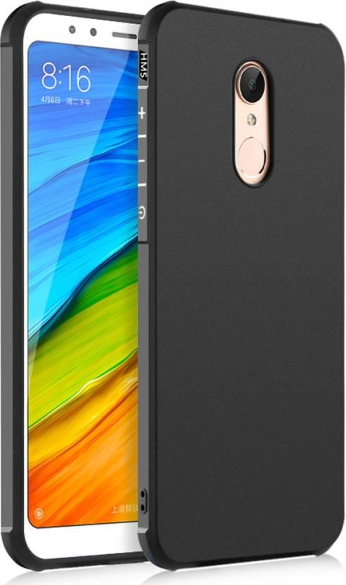 Golden Sand Back Cover for Xiaomi Redmi 5, Mi Redmi 5 (Matte Black, Soft Case, Rubber, Silicon)