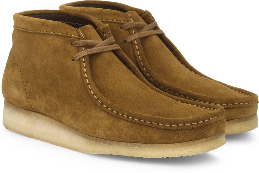 Clarks Wallabee Boot Bronze Boots For Men