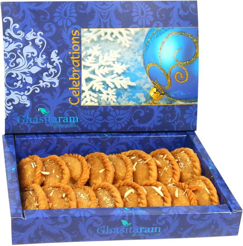 Ghasitaram gifts sugarfree healthy wheat gujiya box price in india ghasitaram gifts sugarfree healthy wheat gujiya box negle Image collections