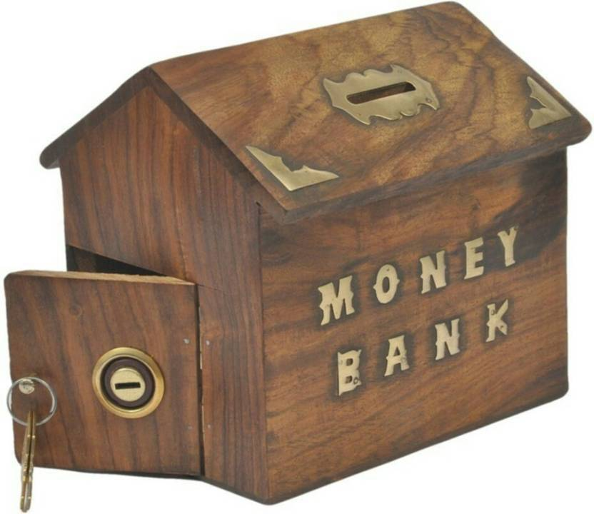 India Wooden Handicrafts Wooden Money Bank Coin Bank Price In India