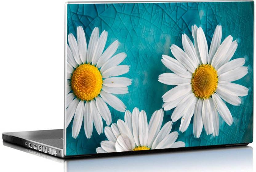 Pixel Artz Abstract Turquoise Floral Background 3M Vinyl