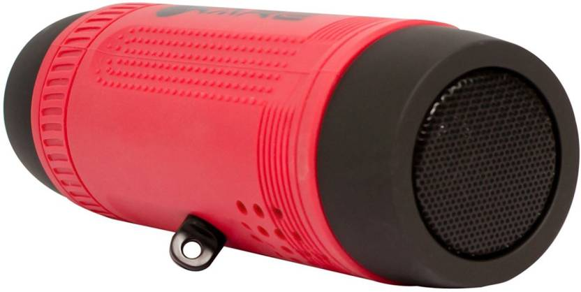 Discoverz 4 in1 Waterproof Portable Bluetooth Speaker with Powerful Torch and 4000 mAh Power bank 3 W Bluetooth Speaker Red, Stereo Channel