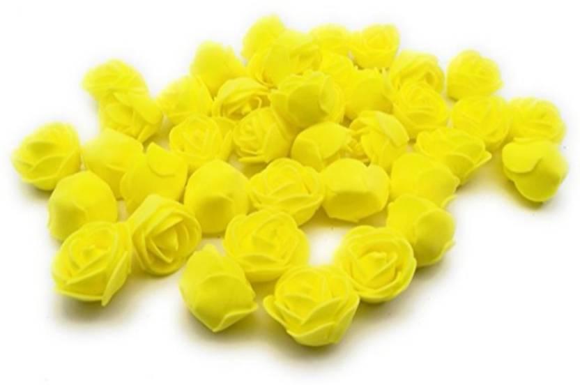 Satyam Kraft Imported 50 Pcspe Foam Artificial Flower Roses For