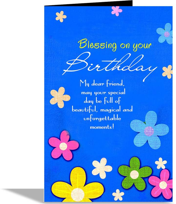 Alwaysgift Blessing On Your Birthday Greeting Card Multicolor Pack Of 1