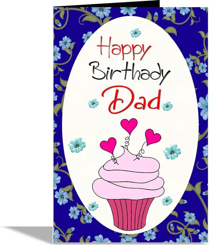 Alwaysgift Happy Birthday Dad Greeting Card Greeting Card Price In