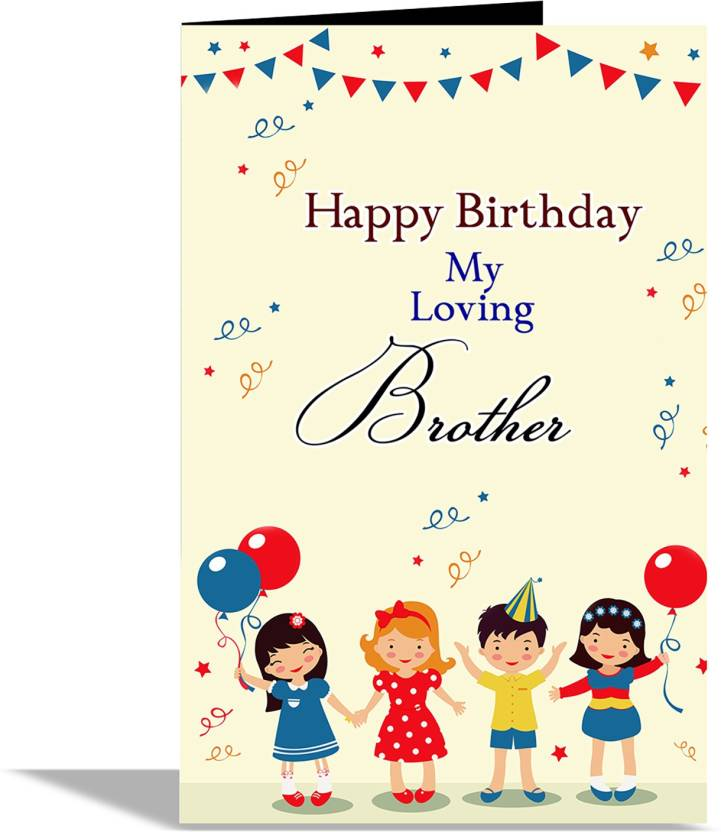 Alwaysgift Happy Birthday My Loving Brother Greeting Card Greeting