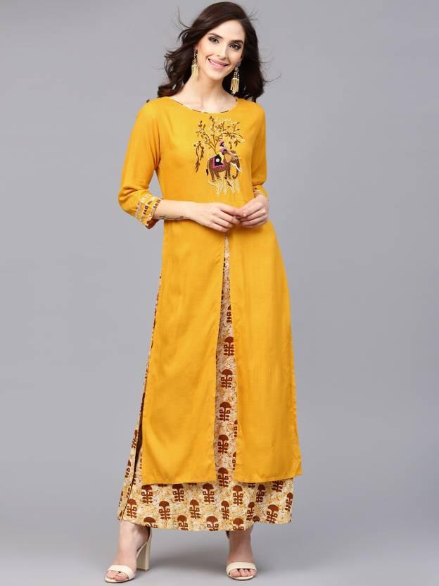 87397e32c4a1 Aks Women s Maxi Yellow Dress - Buy Aks Women s Maxi Yellow Dress Online at  Best Prices in India