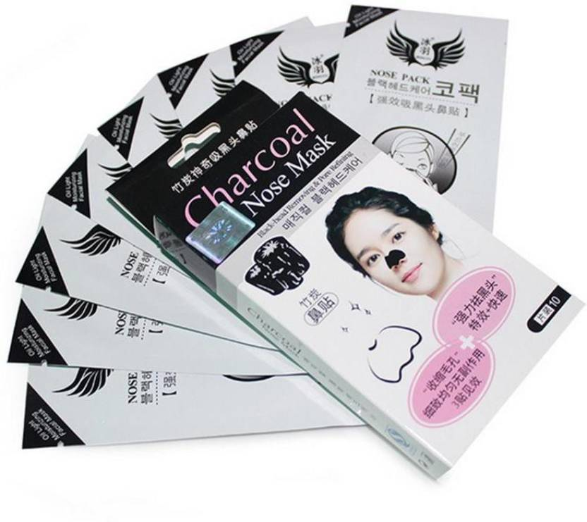 Shopeleven Charcoal Nose Mask for Blackhead Removal and Pore Refining  (Professional Salon Range) ( 60 g )