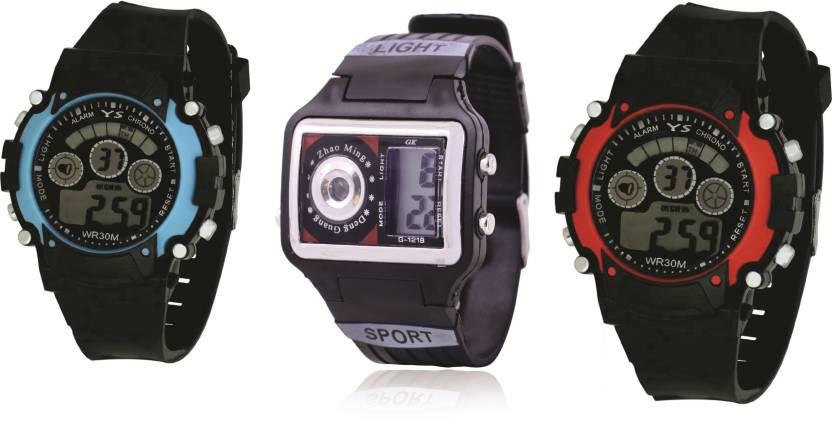 7f4cdb258ab Skylofts LED Digital Mens   Boys Sports Watches- Wrist Watch ( Pack of 3)  Watch - For Men   Women - Buy Skylofts LED Digital Mens   Boys Sports  Watches- ...