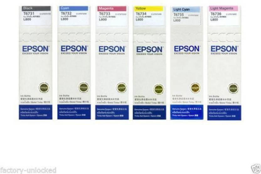 Epson Epson L800 L801 L805 L810 L850 L1800 multicolor cartridge Multi Color  Ink Cartridge