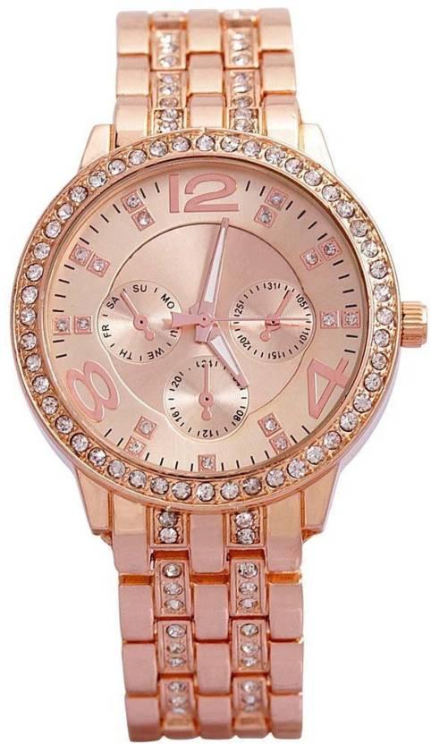 b95ab01ef39b Felizo Fancy Rose Gold Color Diamond Studded Watch Fancy New Style Branded  Watch - For Women - Buy Felizo Fancy Rose Gold Color Diamond Studded Watch  Fancy ...