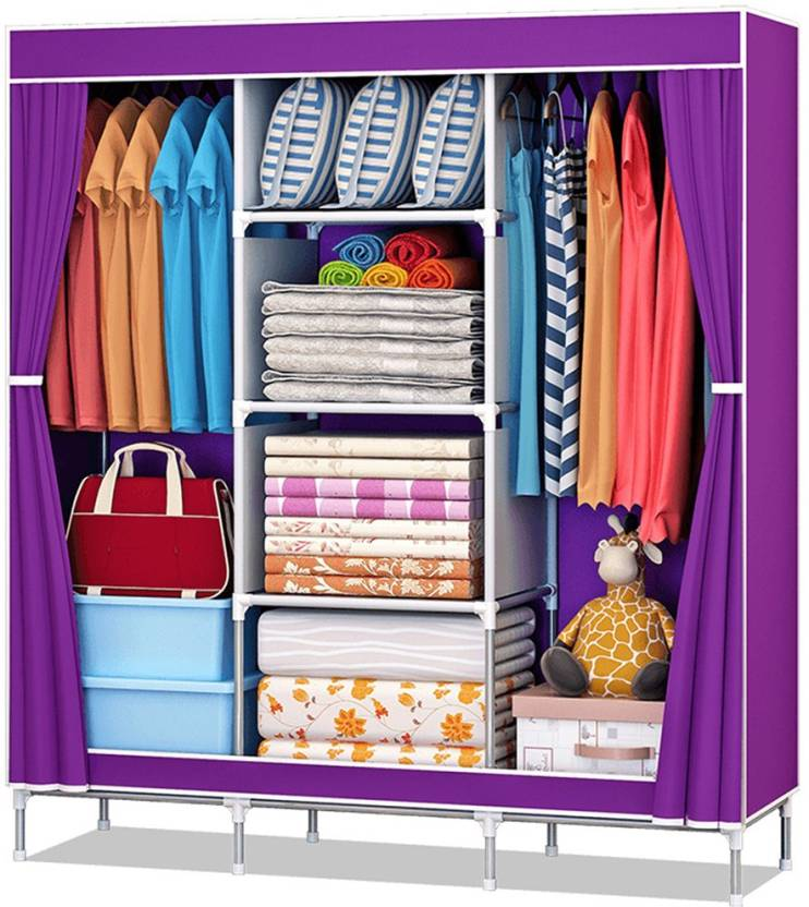 5c0f76e220e Furn Central 2 Door PP Collapsible Wardrobe Price in India - Buy ...
