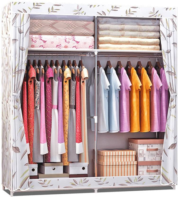 e409860b261 Furn Central 2 Door PP Collapsible Wardrobe (Finish Color - Bamboo Leaves)