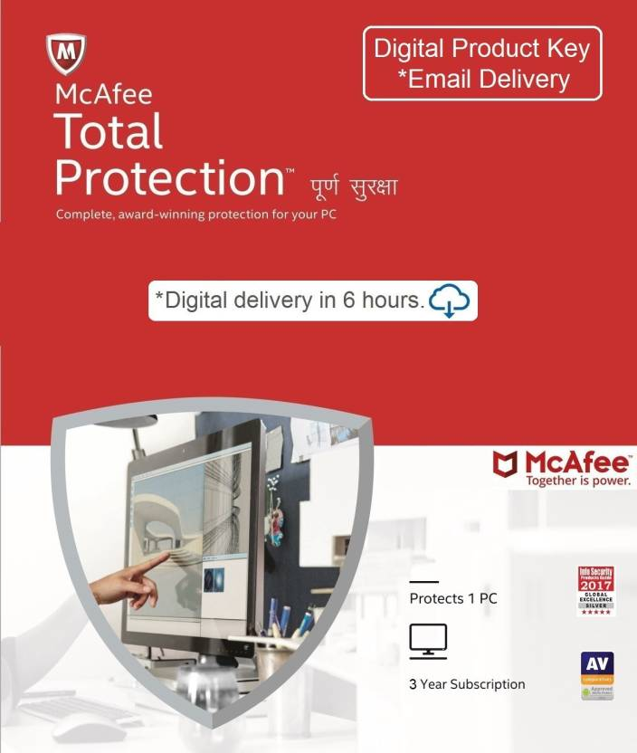 McAfee 1 User 3 Years Total Security Activation Code