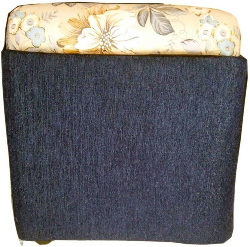 Homesense Solid Wood Cube Ottoman