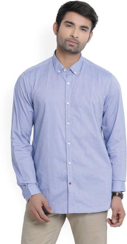 f26e5cd3 Blackberrys Men's Printed Casual Button Down Shirt - Buy Blue Blackberrys Men's  Printed Casual Button Down Shirt Online at Best Prices in India | Flipkart.  ...