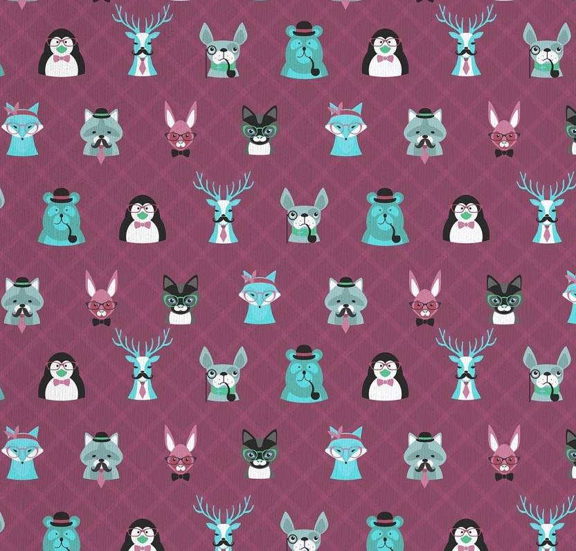 Letsfabify 3462 Hipster Wallpaper 100 Cotton Fabric For Sofa